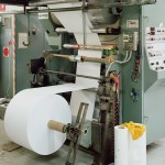 A CMF flexographic web printing press - paper reel feed
