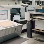 A Heidelberg B0 offset Lithography Printing Press at Gunn & Taylor Printers. Glen Waverley, Victoria, Australia.